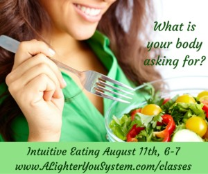 Intuitive Eating August online weight loss